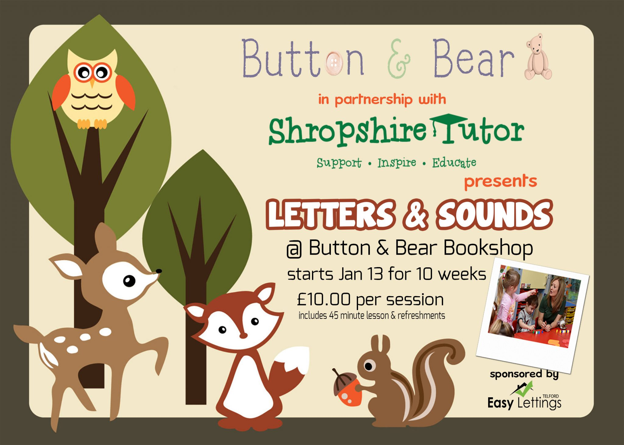 Working in partnership with Button & Bear Bookshop in Shrewsbury